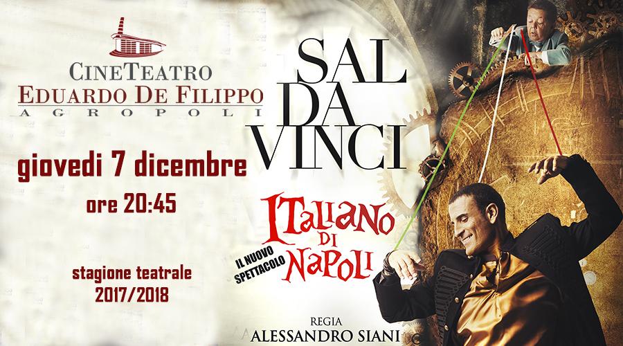 SAL DA VINCI in ITALIANO DI NAPOLI giovedi 7 dicembre