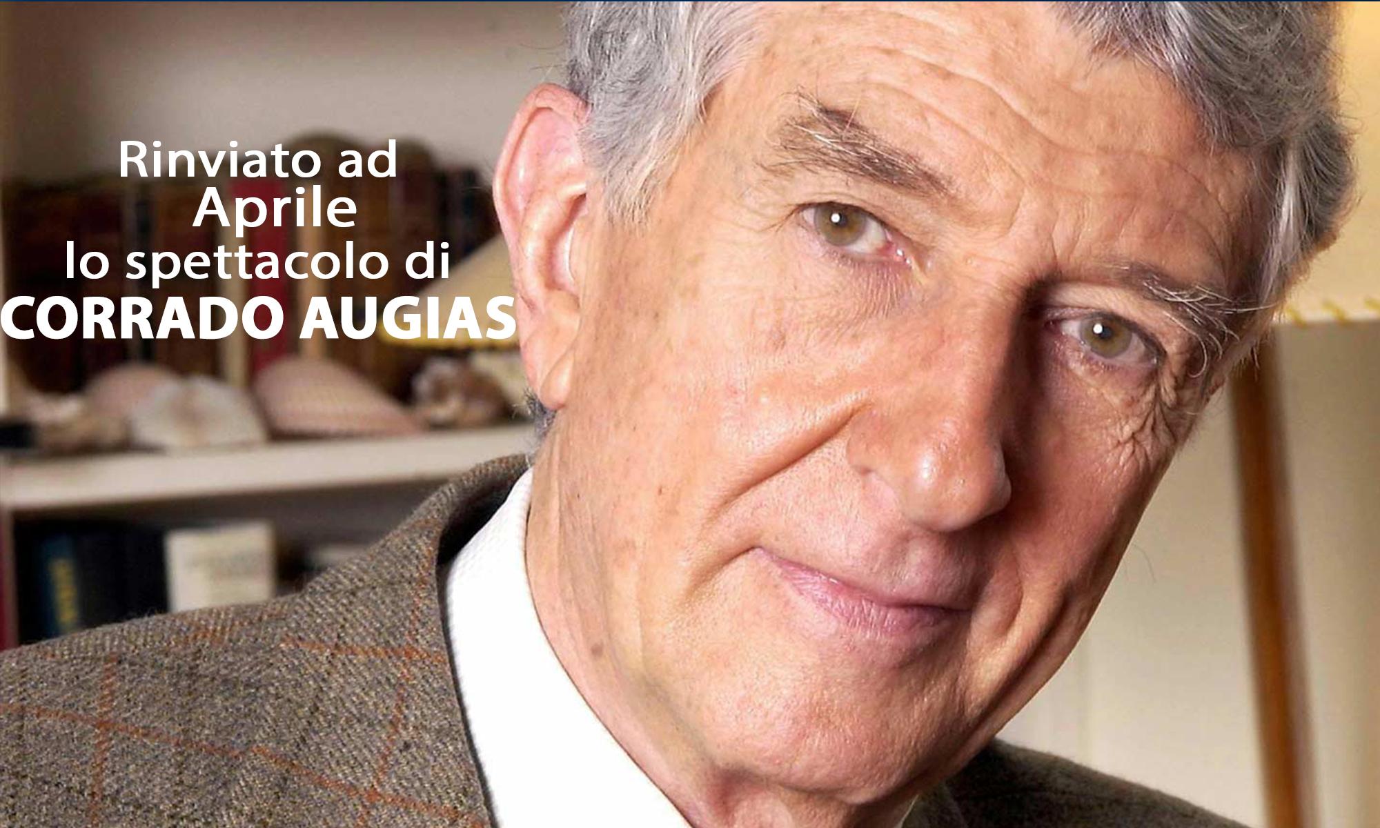 RINVIATO AD APRILE LO SPETTACOLO DI CORRADO AUGIAS