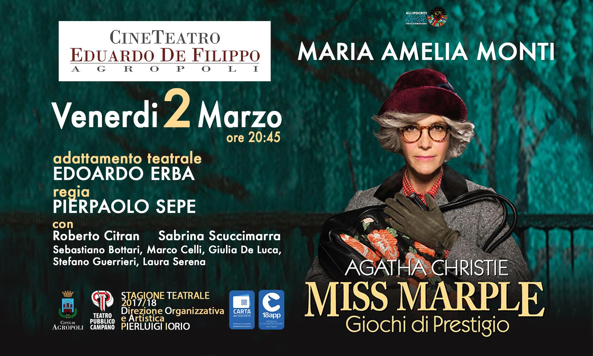 Maria Amelia Monti è Miss Marple