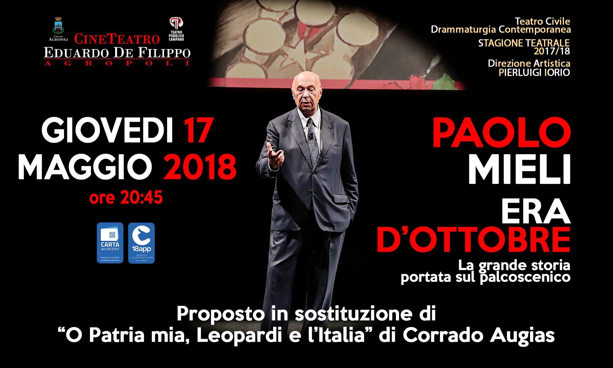 """Paolo Mieli in """"Era d'ottobre"""""""