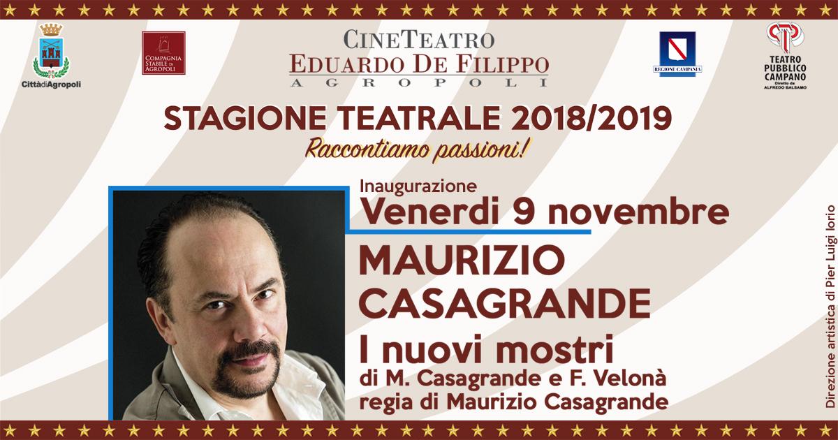 Maurizio Casagrande aprirà la nuova stagione del De Filippo di Agropoli