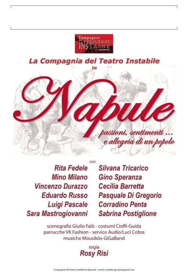 """""""Napule"""" in scena al De Filippo"""