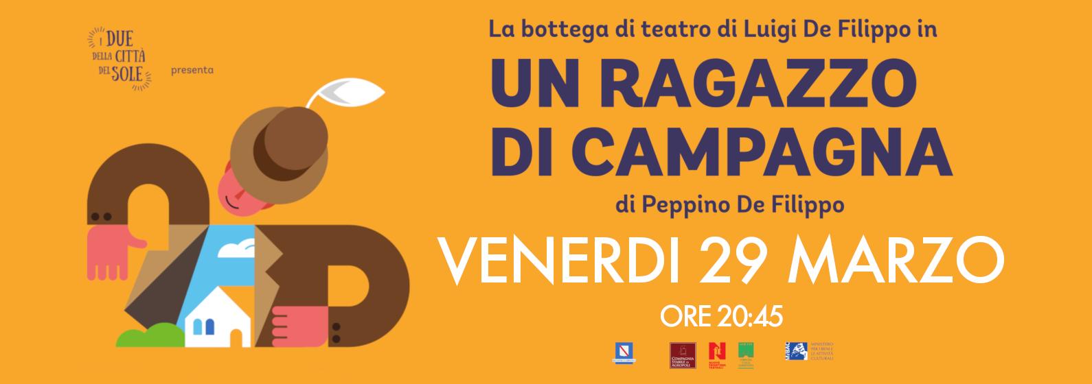 La Bottega di Teatro di Luigi De Filippo il 29 marzo al De Filippo